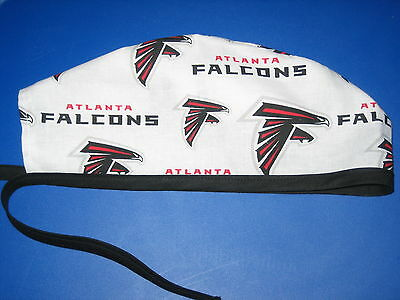 Surgical Scrub Hats/Caps NFL Atlanta Falcons  White