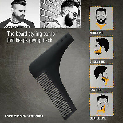 New Professional Beard Shaping Shaving Tool Comb for Perfect Lines & Symmetry OZ