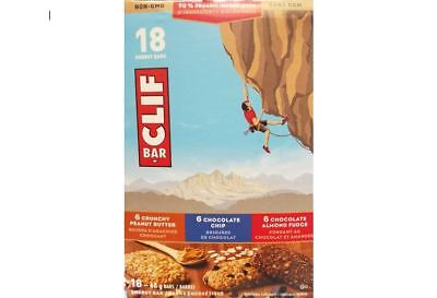 BIG BOX of 18x68g CLIF Organic Nutritional Supplement Energy Bars Builders Varie