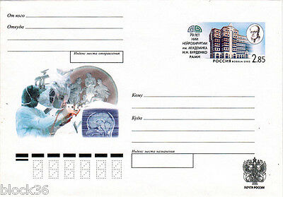 2002 Letter cover 70 yrs to INSTITUTE OF NEUROSURGERY named after N.Burdenko