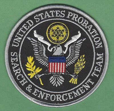 U.s. Department Of Justice Probation Search & Enforcement Team Police Patch
