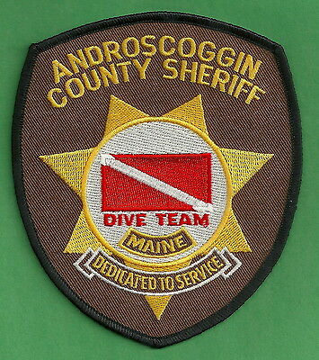 Androscoggin County Sheriff Maine Police Dive Patch