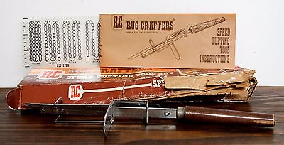 Vintage Rug Crafters Speed Tufting Tool Instructions In Original Box