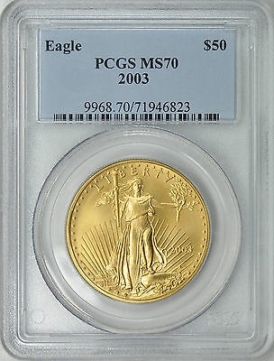 2003 $50 Gold Eagle Pcgs Ms70 Pcgs Price $2,300