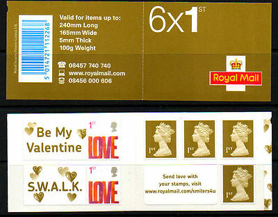 """GB -- 2008 Barcode Booklet  with """"Smilers"""" and normal definitive stamps (SA2)"""