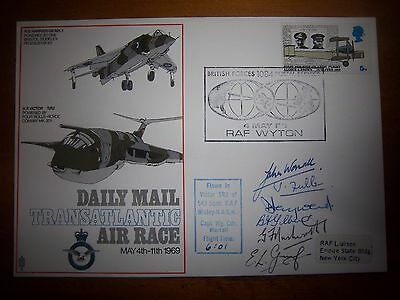 V/rare S1 Special Daily Mail Transatlantic Air Race Multi Signed Flown Cover
