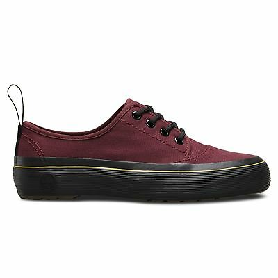 Dr.Martens Jacy 4 Eyelet Canvas Cherry Womens Shoes