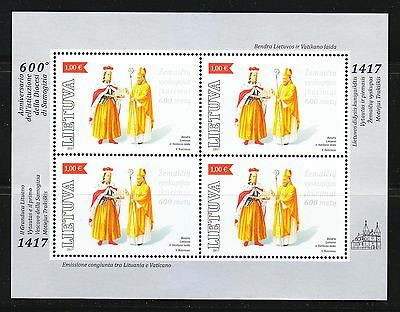 Joint Lithuania Vatican issue 2017 MNH Great Duke Vytautas & Bishop of Samogitia