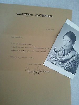 Glenda Jackson Photo And Letter Signed