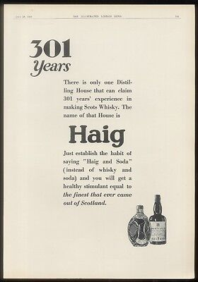 1929 Haig & Haig Scotch Whisky UK vintage print ad