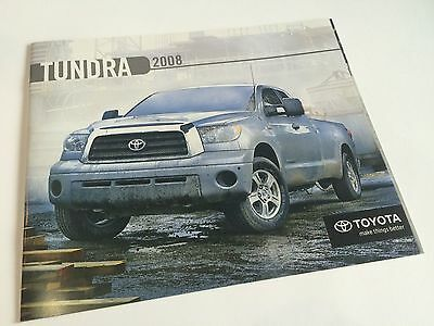 2008 Toyota Tundra Double Cab Crewmax Deluxe SR5 Limited 4x2 4x4 Brochure