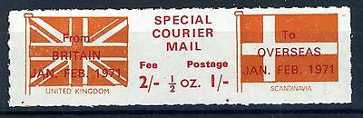 Gb 1971 Strike Mail Special Courier Mail Mnh