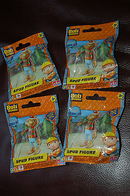 4 x SPUD SCARECROW FIGURES - Bob the Builder, NEW & SEALED PACKS