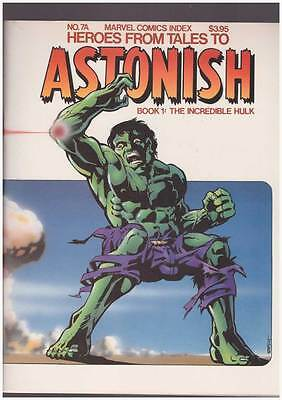 Marvel Comics Index 7A  Heroes from Tales to Astonish !  grade 7.5 scarce book !
