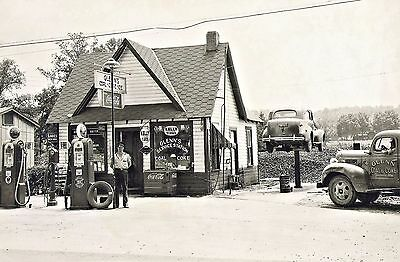 Sinclair Gas Station Pumps Glenn's Service Coal & Coke Truck Alabama