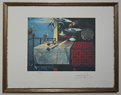 Salvador Dali 'Still life-fast moving' Signed Lithograph Lim. 2000 pcs.