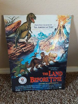 1988 Land Before Time Pizza Hut Promotional Counter Top Sign Rare