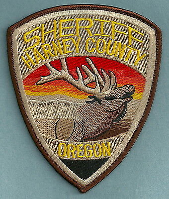 Harney County Sheriff Oregon Police Patch