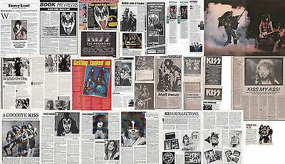 KISS : CUTTINGS COLLECTION -interviews adverts-