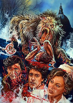 American Werewolf In London, Large Super Heavyweight Rick Melton Fine Art Print