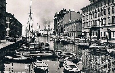 Italy - Trieste - Il Canale -  Real Photo Postcard  C.1939 By A. Campassi