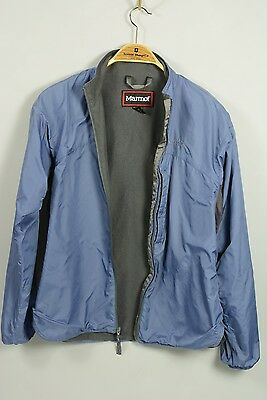 Marmot Softshell Micro-fleece Lined Packable Lightweight Blue Jacket Mens M EXCL