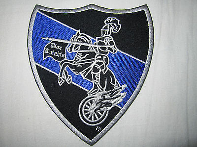 BLUE KNIGHTS MOTORCYCLE CLUB  embroidered patch NEW
