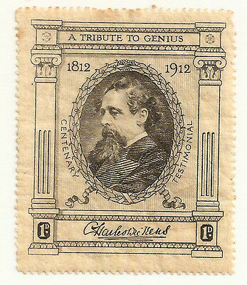 GB 1912 Centenary Charles Dickens (R.Tuck) 1d MNH 1812-1912 single poster stamp