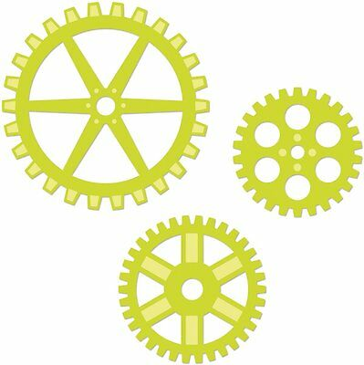 "Kaisercraft Metal Die Cut Cogs Set Largest Approximately 3""x3"""