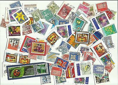 Switzerland postage stamps x 90, used (Batch 2)