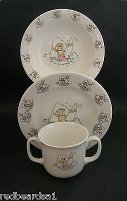 Sailor Teddy Child Baby Nursery Ware Set Cup Plate Bowl Boxed China Ironstone