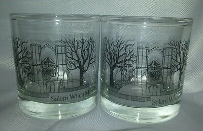2 Salem Witch Museum Cocktail Whisky Whiskey Bar Glasses Cups