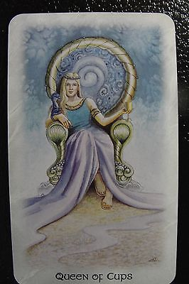 Queen of Cups Celtic Dragon Tarot Single Replacement Card Excellent Condition