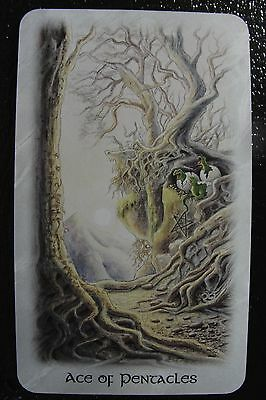 Ace of Pentacles Celtic Dragon Tarot Single Replacement Card Excellent