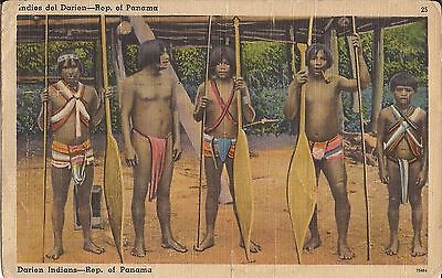 Darien Indians - Panama  - 1958 - LINEN - Native Americans, Central America