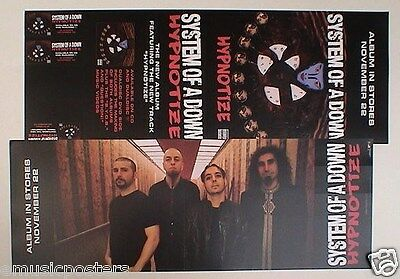 """System Of A Down """"hypnotize"""" 2-Sided U.s. Promo Poster / Banner"""