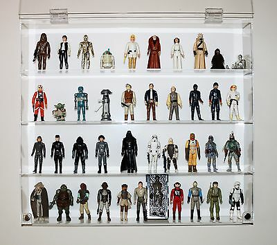 "Collectors Showcase - Premium Display Case for 3-3/4"" Star Wars Figures - T3MS"