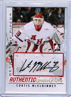 07/08 ITG BETWEEN THE PIPES HOCKEY GOALIEGRAPH AUTO CARDS A-XX U-Pick From List