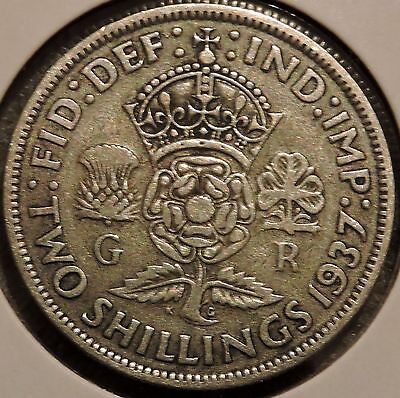 British Florin - 1937 - Big Silver Coin - $1 Unlimited Shipping