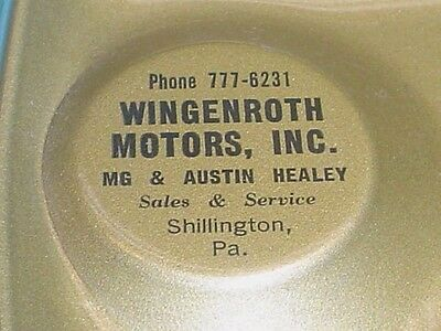Wingenroth Motors Mg & Austin Healey Ashtray Shillington Pa