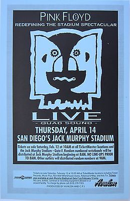 """PINK FLOYD """"DIVISION BELL TOUR"""" 1994 SAN DIEGO CONCERT POSTER-Classic Rock Music"""