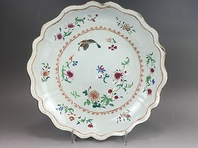 A beautiful Chinese 18C famille rose lobed charger - Yongzheng