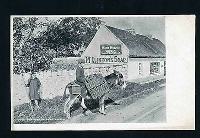 Ireland Going for Turk M'Clintons Soap Grocer and Tea Dealer advertising card