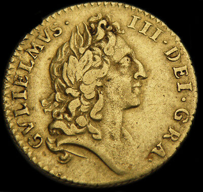 Rare King William The Iii 1695 Gold Half Guinea