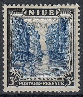 Niue  1950  SG122  3s Blue & Black    Mounted Mint   (259)