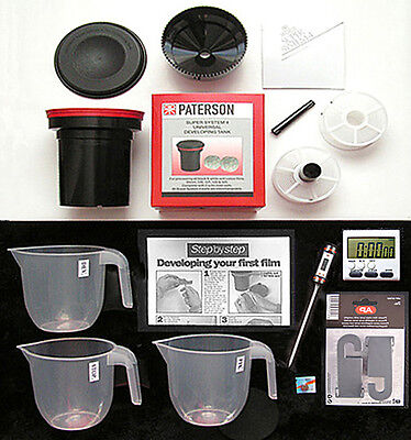 """Film  Developing  Kit  For 35Mm & 120 Film  """"with Paterson Dev. Tank"""""""