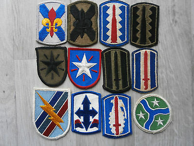 Us Army Lot Number 4 Of 12 Infantry Brigade Patches / Ssi Colour & Subdued