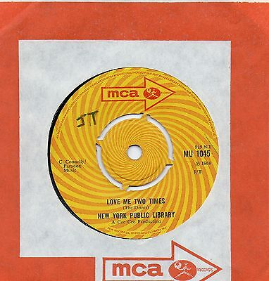 NEW YORK PUBLIC LIBRARY love me two times*which way to go 1968 UK MCA 45