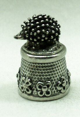 Hedgehog  novelty Collector Pewter thimble
