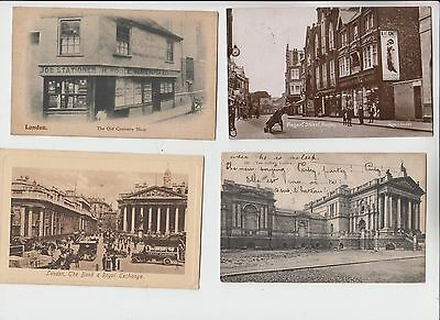 Angleterre Lot 4 Cpa London Londres Old Curiosity Shop .... Regent Street Rugby